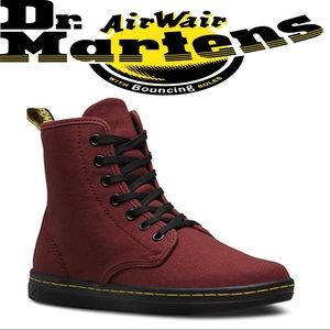 AWESOME Maroon Canvas Doc Martens